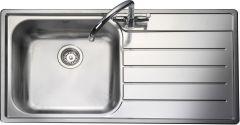 Rangemaster OL9851R/ Oakland single bowl sink right hand drainer