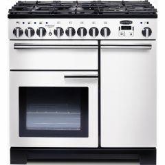 Rangemaster PDL90DFFWH/C Professional Deluxe 90cm dual fuel range cooker