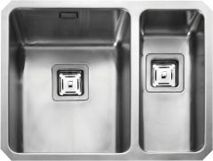 Rangemaster QUB3418R/ Quad Undermount 1.5 bowl sink right hand drainer