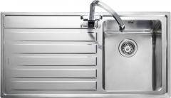 Rangemaster RK9851L/ Rockford single bowl sink left hand drainer