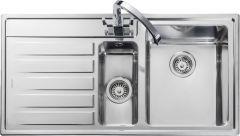 Rangemaster RK9852L/ Rockford 1.5 bowl sink left hand drainer