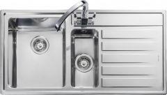 Rangemaster RK9852R/ Rockford 1.5 bowl sink right hand drainer