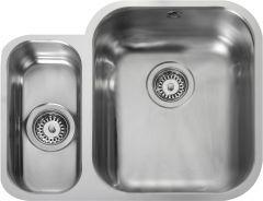 Rangemaster UB3515L/ Classic Undermount 1.5 bowl sink left hand drainer