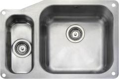 Rangemaster UB4015L/ Classic Undermount 1.5 bowl sink left hand drainer