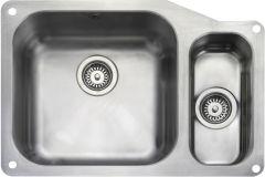 Rangemaster UB4015R/ Classic Undermount 1.5 bowl sink right hand drainer