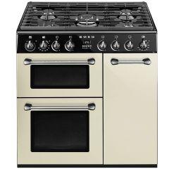 Smeg BU93P 90cm dual fuel range cooker