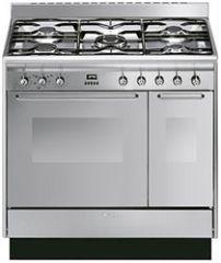Smeg CC92MX9 90cm dual fuel range cooker