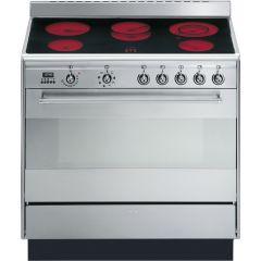Smeg SUK91CMX9 90cm Concert ceramic range cooker