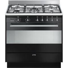 Smeg SUK91MBL9 90cm Concert dual fuel range cooker