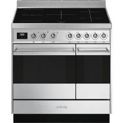 Smeg SY92IPX9 90cm Symphony induction range cooker