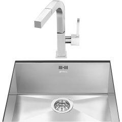Smeg VSTQ50-2 Single bowl undermount sink