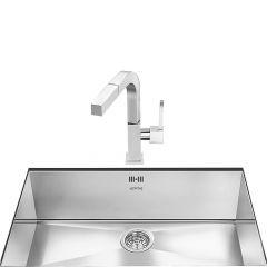 Smeg VSTQ72-2 Single bowl undermount sink
