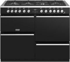 Stoves PRECISION DX S1100DF BK 110cm dual fuel range cooker