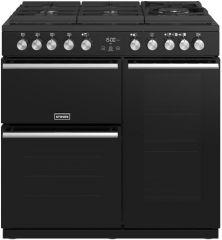 Stoves PRECISION DX S900DF GTG B 90cm dual fuel range cooker